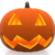 Stock Photo: 3D Halloween pumpkin