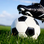 Football kickoff — Stock Photo