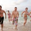 Friends at the beach — Stock Photo #7772104