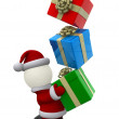 3D Santa Claus — Stock Photo