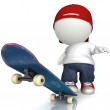 3D Skater boy — Stock Photo