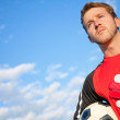 Stock Photo: Football goalkeeper