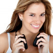 Woman with headphones — Stock Photo #7772213