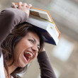 Royalty-Free Stock Photo: Student balancing books