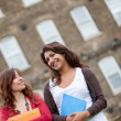 Female students outdoors — Stock Photo #7772226