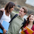Happy students outdoors — Stock Photo #7772227