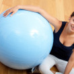 Gym woman portrait — Stock Photo