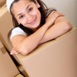 Girl moving — Stock Photo