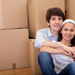 Couple moving — Stock Photo #7772332