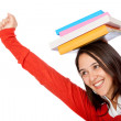 Student with books — Stock Photo #7772365