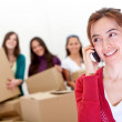 Calling the moving van — Stock Photo #7772369
