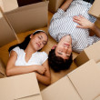 Couple tired of packing — Stock Photo #7772378