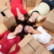 Girls tired of packing — Stock Photo #7772380