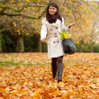 Autumn woman outdoors — Stock Photo #7772383