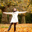 Happy Autumn woman — Stock Photo #7772384