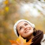 Pensive autumn woman — Stock Photo #7772387