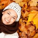 Autumn woman portrait — Stock Photo