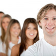 Man with a group — Stock Photo #7772427