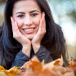 Autumn woman outdoors — Stock Photo #7772432