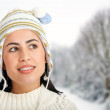 Winter woman outdoors — Stock Photo