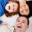 Happy family smiling — Stock Photo