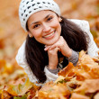 Autumn woman portrait — Stockfoto