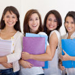 Stock Photo: Female students