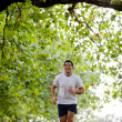Man jogging outdoors — Stock Photo