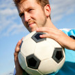 足球的男人 — 图库照片