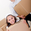 Couple moving — Stock Photo
