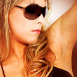 Fashion girl portrait - sunglasses — Stok fotoğraf