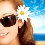 Fashion summer portrait — Stock Photo