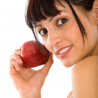 Beautiful girl with an apple — Stock Photo