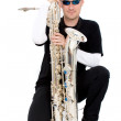 Foto Stock: Saxophone player