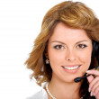 Business customer service girl — Stock Photo