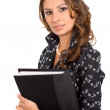 Business woman with a folder — Stock Photo #7772781