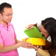 Stock Photo: Couple with a gift
