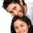 Beautiful young couple portrait — Stock Photo