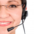 Customer support girl — Foto de Stock