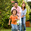 Happy family having fun outdoors — Stock Photo #7772855