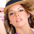 Fashion girl wearing a hat — Stock Photo #7772870