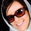 Fashion woman portrait with sunglasses - 图库照片