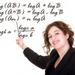 Female maths teacher - Stock Photo