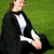 Female graduating at university — Stock Photo
