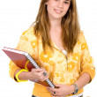 Female student with notebooks — Stock Photo #7772936
