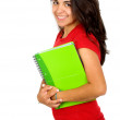 Female student with notebooks — Foto de stock #7772938