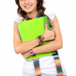 Female student with notebooks — Foto de stock #7772941