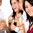 Group of friends at a party — Stock Photo #7772955