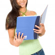 Gorgeous female student - Stock Photo