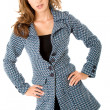 Fashion woman portrait - coat — Stock Photo